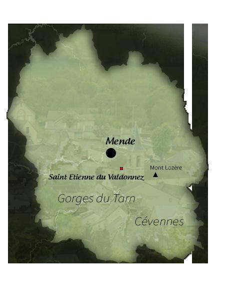 Carte de Saint Etienne du Valdonnez