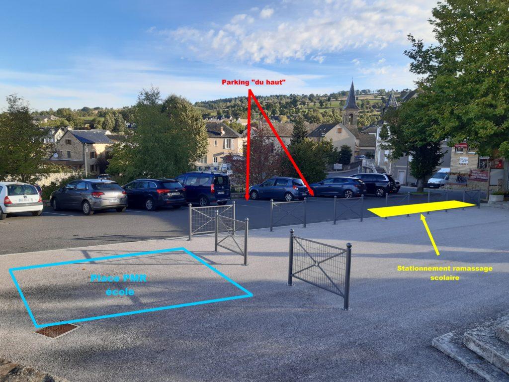 Stationnement et circulation parking école / mairie