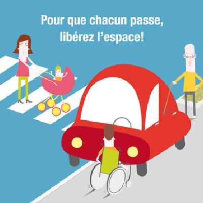 Rappel : le stationnement sur les trottoirs est interdit !