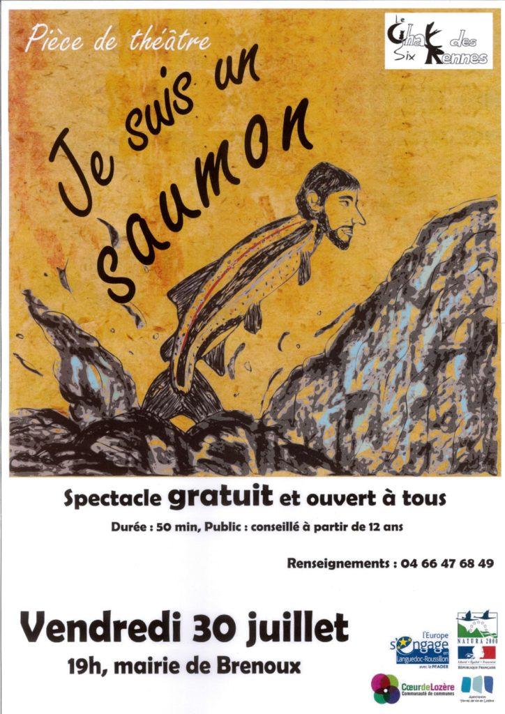 """Spectacle (pièce de théâtre) """"Je suis un saumon"""""""