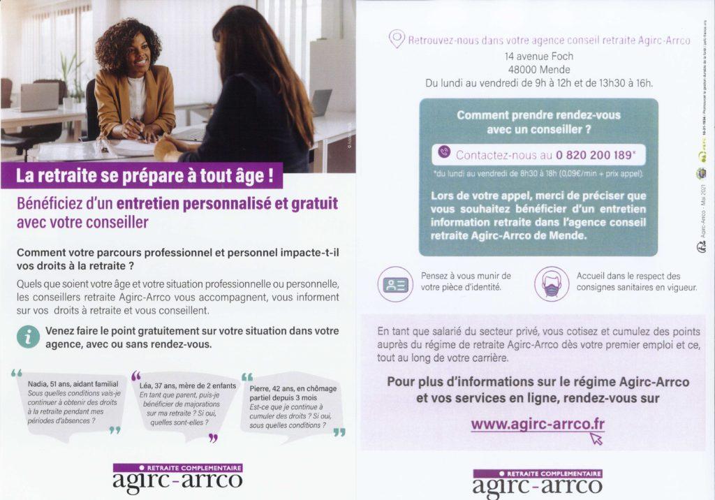 Agence AGIRC – ARRCO en Lozère